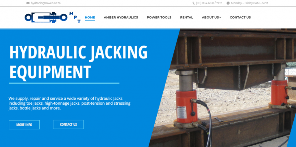 Jacked Digital Hydraulic Power Tools Home Page